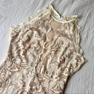 H&M Cream Lace Bodycon Dress